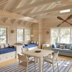 Rumpus room ideas - seating around the outside of the room