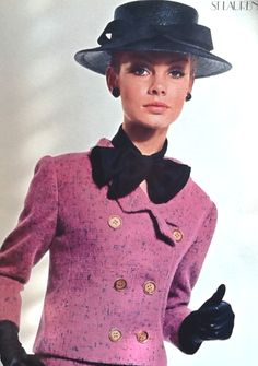 1964 Jean Shrimpton photographed by David Bailey in YSL