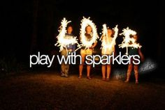 Every Fourth of July and New Years I love playing with sparklers. It's the best! Teen Summer, Summer Fun, Summer Goals, Summer Nights, Summer 2016, Summer Things, Summer Baby, Fun Things, Summer Bucket List For Teens