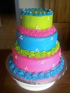 Seven Deadly Sweets: Our Cakes Throughout the Years: A Little Girl's 1st Birthday Cake