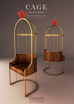Cage Armchair - Brass - Pont des Arts - Monzer Hammoud -Designer - Paris -