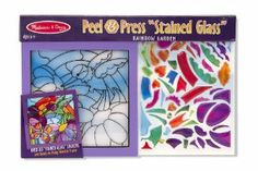 Melissa & Doug Rainbow Garden See Through Window Art by Melissa & Doug. $9.07. See-through sparkle-gem stickers shine when the light shows through. Includes everything you need to fill the picture no glue required. Follow the number key to place glittering stickers over the template. Develops concentration and fine motor skills. Premounted in ready-to-hang wooden frame. From the Manufacturer                This guided arts-and-crafts activity gives young artists eve...