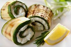 Grilled Zucchini Roll Recipe with Herbed Goat Cheese & Kalamata Olives ...