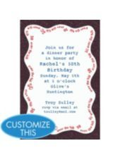 Over The Hill 50 Custom Invitation Invitations 50th Birthday Supplies Adult