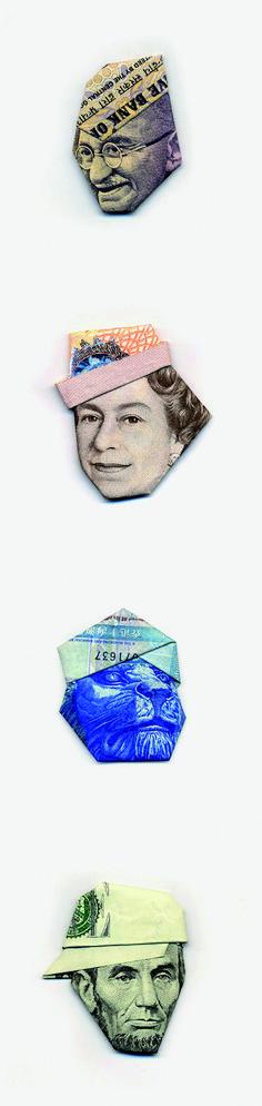 // MONEYGAMI, Origami with money BY Yosuke Hasegawa //