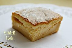 Discover recipes, home ideas, style inspiration and other ideas to try. Magic Cake Recipes, Dessert Recipes, Desserts, Food Porn, Toffee Bars, Custard Cake, Tasty, Yummy Food, Turkish Recipes