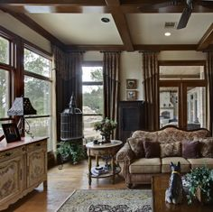 Warm and Inviting Family Room, Cozy and inviting. This family room has the advantage of looking over a beautiful lake. We opted to keep the ...