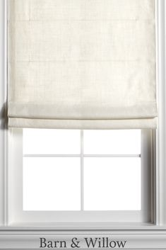 Oyster Roman Shade in a chic flat style. Made of premium Belgian Flax Linen, this custom window shade is hand-stitched by expert hands. Blinds For Small Windows, Floor To Ceiling Windows, Window Blinds, Linen Roman Shades, Custom Roman Shades, Lyon, Fabric Window Shades, Door Curtains, Living Room Paint