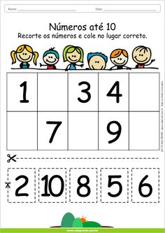 Afbeeldingsresultaat voor Atividades com numeros Preschool Writing, Numbers Preschool, Preschool Learning Activities, Teaching Kids, Kids Learning, Kindergarten Morning Work, Kindergarten Math Worksheets, Preschool Kindergarten, Math For Kids