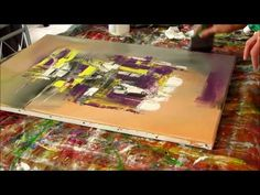 Abstract Painting Techniques - Démonstration peinture abstraite (7) - Althea - YouTube