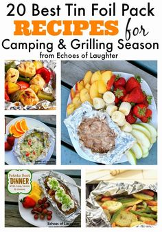 20 Best Tin Foil Packet Recipes for Camping & Grilling Season (Echoes of Laughter) 20 Best Tin Foil Packet Recipes for Camping & Grilling Season camping food, camping food ideas Camping Grill, Camping Meals, Camping Tips, Camping Cooking, Vegetarian Camping, Camping Dishes, Camping Kitchen, Tent Camping, Camping Trailers
