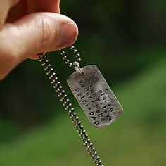 Personalized Mens Dog Tag Necklace for Dad  by thebeadgirl on Etsy, $72.00
