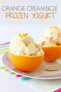 A deliciously creamy and healthy orange frozen yogurt recipe. Super easy to make. No ice cream maker required!   My Fussy Eater blog paleo for beginners for kids