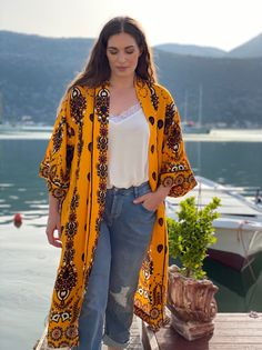 Beach Style Look By Mat. fashion Real Size Plus Size Fashion #matfashion #matfashionistas #matstyle #therealyou #realsize #realwomen #loveyourcurves #bodypositive #bodypositiveinfluencer #bodypositivity #SpringSummer2020 #ss2020 #collection #fashion #stylebeyondsize #streetstyle #beach #sea #summerstyle #resort #greeksummer Mat Fashion, Real Women, Beautiful Outfits, Plus Size Fashion, Kimono Top, Spring Summer, Street Style, Elegant, Sleeves