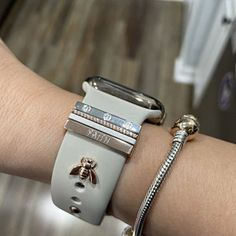 Cute Apple Watch Bands, Apple Watch Bands Fashion, Apple Watch 3, Apple Watch Fitness, Iphone Watch Bands, Fitbit Bands, Infinity Band, Apple Watch Accessories, Engraved Rings