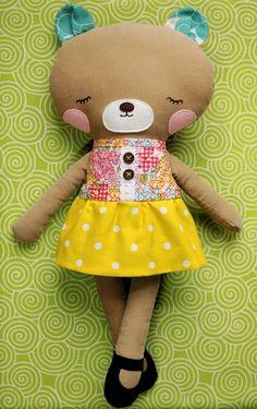 Sweet bear doll by Retro Mama.