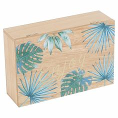 Symple Stuff Store your tea in this vintage design Wooden Tea Box which makes a tasteful addition to your kitchen or dining room. It has 6 large compartments and a painted leaf design lid. Wooden Box Crafts, Wooden Tea Box, Painted Wooden Boxes, Wood Boxes, Wooden Diy, Painted Leaves, Hand Painted, Diy Trinket Box, Stencil