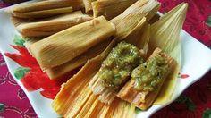 Tamales de Carne Deshebrada con Rajas de Chile Poblano - QueRicaVida.com