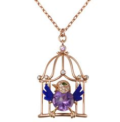 """Famous Cartier pendant """"Bird in Cage"""""""
