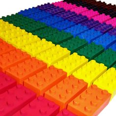 Lego Crayons #party #favors #rainbow