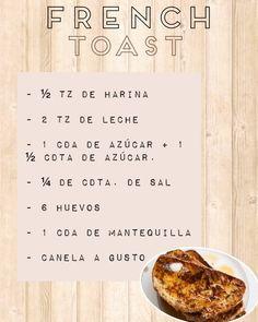 Este jueves te compartimos la receta de uno de nuestros desayunos favoritos, los french toast!! Preparación: Mezclar todos los ingredientes.  Remojar las rebanas de pan y freir en una sartén con mantequilla hasta dorar. Espolvorear azúcar impalpable y miel de maple. Las pueden acompañar también con bananas, nutella, frutos rojos, salsa de caramelo, etc... Bananas, Nutella, Bread, Instagram Posts, Food, Caramel Dip, Butter, Honey, Breakfast
