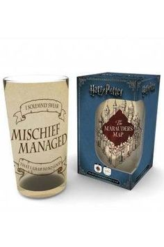 Harry Potter Marauders Map Coloured Pint Glass