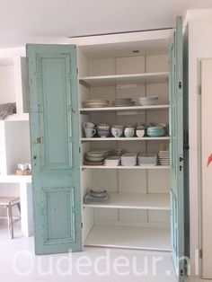 Furniture Inspiration, Interior Inspiration, Room Wanted, Bali House, Built In Cupboards, Old Doors, Living Furniture, Interior Design Kitchen, Colorful Interiors