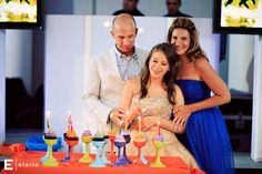 Candle Lighting Ideas - Cupcake bat mitzvah candle lighting ceremony from Dance Time Entertainment - mazelmoments.com