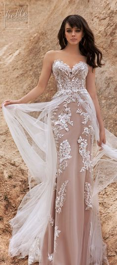 We are bringing you the latest array of bridal gowns by Katherine Joyce Wedding Dress Collection, Wind Desert. Beige Wedding Dress, Vintage Style Wedding Dresses, Wedding Dress Gallery, Stunning Wedding Dresses, Colored Wedding Dresses, White Wedding Dresses, Beautiful Gowns, Bridal Dresses, Wedding Gowns