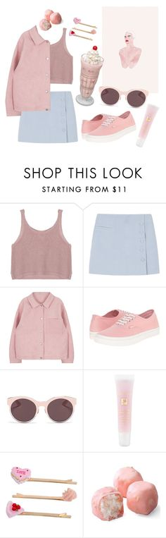 """Sweet Sixteen / milk shake / pink / girl / tumblr / 90's / sweet / pretty / pastel"" by moonlitfairy ❤ liked on Polyvore featuring Vans, Christian Dior, Lancôme and Miss Selfridge"