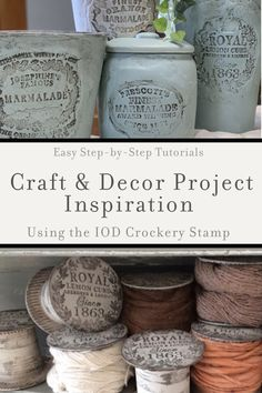 Oh, the Things You Can Make with Your IOD Crockery Stamp! - DIY Home Decor from Iron Orchid Designs - Easy stamp craft projects and DIY decor ideas that you can make the IOD Crockery decor stamp. Diy Home Decor Projects, Craft Projects, Decor Ideas, Diy Candle Labels, Antique White Paints, Vintage Milk Bottles, Easy Handmade Gifts, Iron Orchid Designs, Paperclay