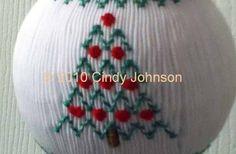 Smocked Christmas ornament pattern