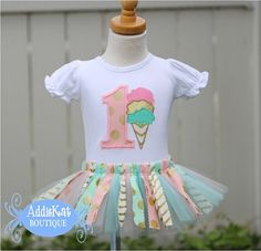 Personalized Ice Cream Birthday outfit
