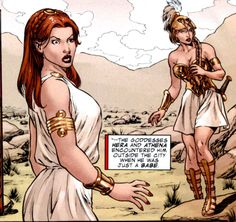 Hera and Athena, Marvel comics! Created By: Stan Lee & Jack Kirby First