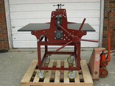Workpress Custom Designed 'etching press'...Canadian Made!