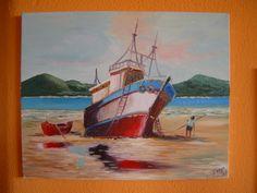 A pesca  Quadro realizado em processo de aprendizagem a partir de uma publicação da área. / Paint performed in the learning process starting from a magazine of art.