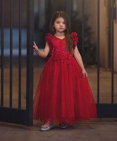 Look what I found on #zulily! Red Bianca Gown - Girls #zulilyfinds