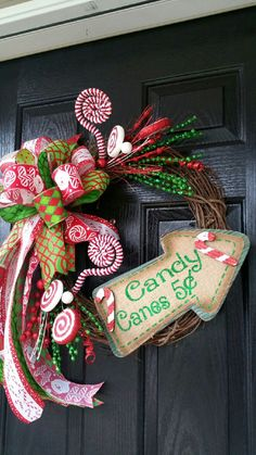 Hey, I found this really awesome Etsy listing at https://www.etsy.com/listing/255558619/whimsical-christmas-candy-cane-grapevine