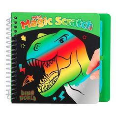 Mini magic Scratch book – Dino World Magic, World, Books, Gifts, Art, Mini Books, Children's Books, Rainbow Colors, Coloring For Kids