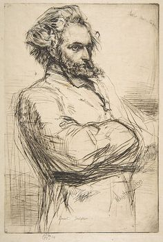 Whistler, 1859, etching, C.L. Drouet, Sculptor