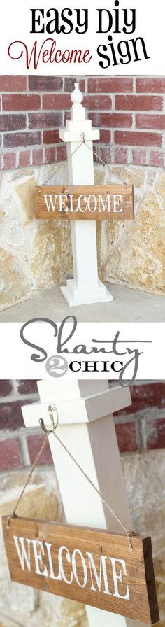 DIY Welcome Sign!  Easy, cheap and so | http://diyaiden.blogspot.com