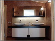 Mobile da bagno componibile con cassetti Composizione doppio lavabo ...