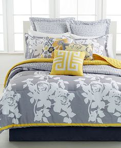 South Beach Rose 10 Piece Queen Comforter Set - Bed in a Bag - Bed & Bath - Macy's