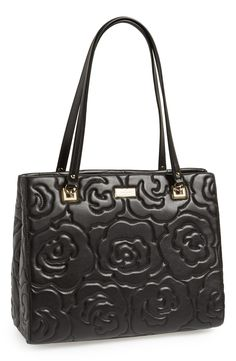 This floral embossed tote is absolutely gorgeous | Kate Spade.