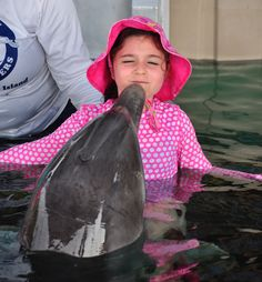 a dolphin kiss from Blue Lagoon Island: http://www.bellissimakids.com/atlantis-the-bahamas/