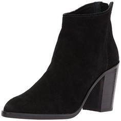 Dolce Vita Women's Stevie Ankle Boot, Black Suede, 7 Medium US
