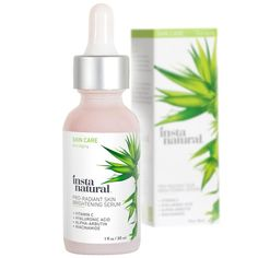 InstaNatural Pro-Radiant Skin Brightening Serum is a blend of brightening ingredients designed to address discoloration and uneven skin tone. Vitamin C and Alpha-Arbutin target hyperpigmentation and visibly reduce the appearance of dark spots, while Hyaluronic Acid and Niacinamide nourish the skin, addressing dehydration, lines and wrinkles.