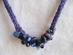 easy pretty knitted necklace (beaded icord - includes link to tutorial) - KNITTING