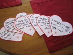 The clues from the valentine's day scavenger hunt I made for my husband.