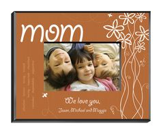 Personalized Breath of Spring Mom Frame - Always FREE laser engraving. Create your own picture frame! - Starting at only $25.95